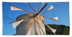 Windmill  2 Beach Towel by George Katechis