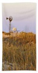 Windmill At Dusk 2011 Beach Sheet