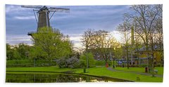 Windmill At Leiden Beach Towel