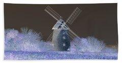 Windmill In A Purple Haze Beach Sheet