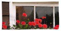 Beach Towel featuring the photograph Window Box Delight by Jordan Blackstone