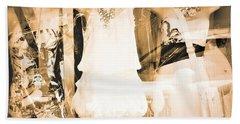 Window Collage Beach Towel