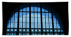 Beach Towel featuring the photograph Window In Chattanooga Train Depot by Susan  McMenamin