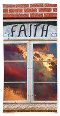 Window Of Faith Beach Towel
