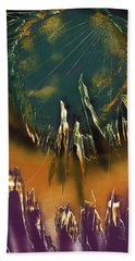 Beach Towel featuring the painting Reefs by Jason Girard
