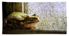 Windowsill Visitor Beach Towel