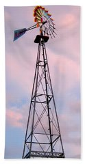 Beach Towel featuring the photograph Windpump by Brian Wallace
