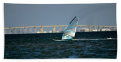 Windsailing By Jfk Causeway Beach Towel