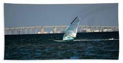 Windsailing By Jfk Causeway Beach Sheet