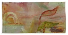 Beach Towel featuring the painting Windswept by Robin Maria Pedrero