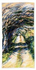 Windswept Tree On Aran Island Galway Ireland  Beach Towel by Trudi Doyle