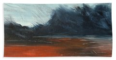 Beach Towel featuring the painting Windy Beach by Jani Freimann
