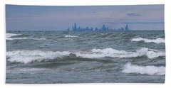 Windy City Skyline Beach Towel