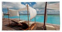 Windy Day At Maldives Beach Towel
