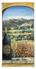 Wine And Poppies Beach Towel