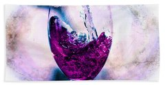 Beach Towel featuring the mixed media Wine Country by Aaron Berg