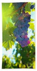 Wine Grapes  Beach Sheet by Jeff Swan