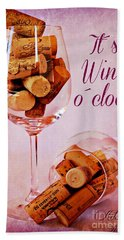 Wine Time Beach Sheet by Clare Bevan