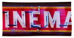 Wineman Neon Sign Beach Towel