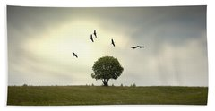 Wings Over The Tree Beach Towel