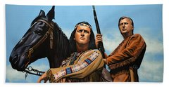 Winnetou And Old Shatterhand Beach Towel