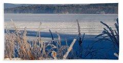 Winnisquam Winter Beach Sheet by Mim White