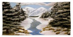 Winter Bliss Beach Towel