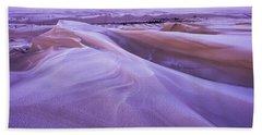 Winter Carves And Decorates The Umpqua Beach Towel