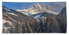 Winter Dolomites Beach Sheet by Martin Capek