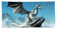 Winter Dragon Beach Towel