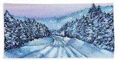 Winter Drive Beach Sheet by Shana Rowe Jackson