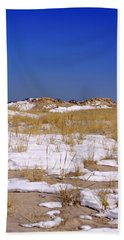 Beach Sheet featuring the photograph Winter Dunes Fire Island by Karen Silvestri