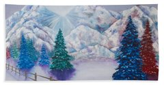 Winter Glow Beach Towel