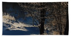 Beach Towel featuring the photograph Winter Glow by Mim White