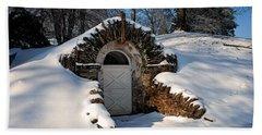 Winter Hobbit Hole Beach Sheet by Michael Porchik