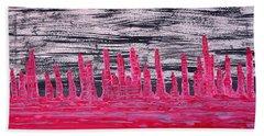Winter Hoodoos Original Painting Beach Towel