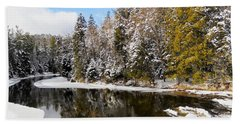 Beach Towel featuring the photograph Winter Impressions ... by Juergen Weiss