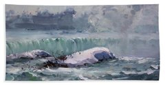 Winter In Niagara Waterfalls Beach Towel
