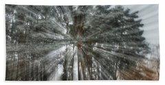Winter Light In A Forest Beach Sheet