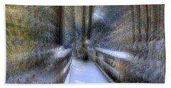 Winter Light On Bridge Beach Towel