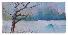 Winter Loneliness Beach Towel by Anna Ruzsan