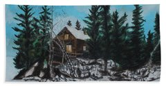 Winter Marshland Beach Sheet by Jeanne Fischer