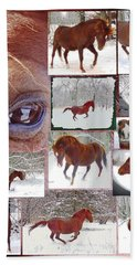 Winter Moments- With The Flashy Paso Fino Stallion Beach Towel
