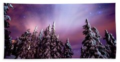 Winter Nights Beach Towel