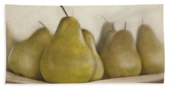 Winter Pears Beach Sheet by Cindy Garber Iverson