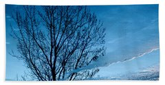 Winter Reflections Beach Sheet by Don Spenner