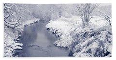 Beach Towel featuring the photograph Winter River by Liz Leyden