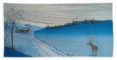 Winter Sentinel Beach Towel by Norm Starks