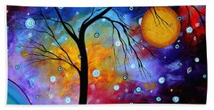 Winter Sparkle Original Madart Painting Beach Towel
