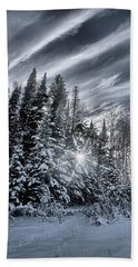 Winter Star Beach Towel